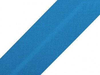Schrägband Baumwolle Breite 30 mm gefalzt / Bluesteel / 1m