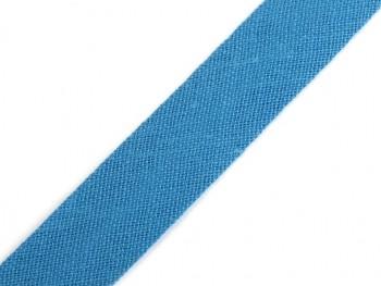 Schrägband Baumwolle Breite 14 mm gefalzt / Blue Curacao / 1m