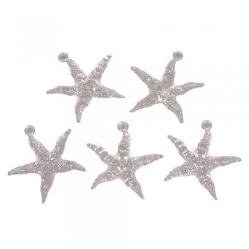Akrylové hviezdice s očkom / 45mm / 5ks