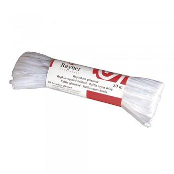 Raffia rayon, gleamy, 20 m, white