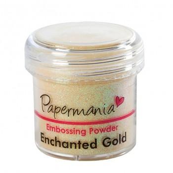 Embosovací prášok Papermania / sv.zlatý s trblietkami
