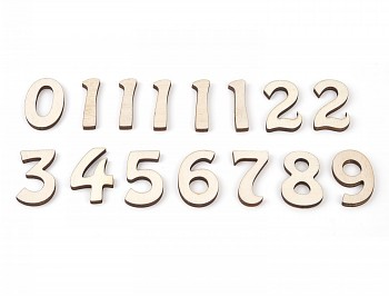 Wooden numbers for clock / 45mm