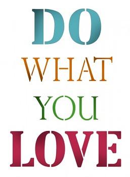 Stencil / A4 / Do what you love