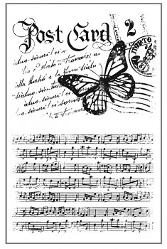 Stempel 7x11cm / Post card and music