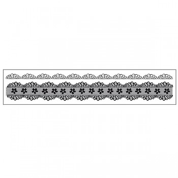 HD rubber Stamp 18x4cm / Laces