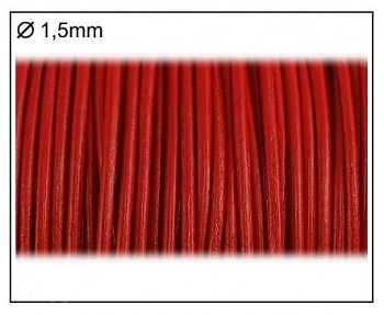 Leather Cord / 1,5 mm / red / 2m
