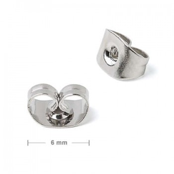 Earring Stoppers / 4 pcs / silver