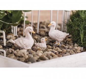 Polyresin geese / 1,5-3cm / 4pcs