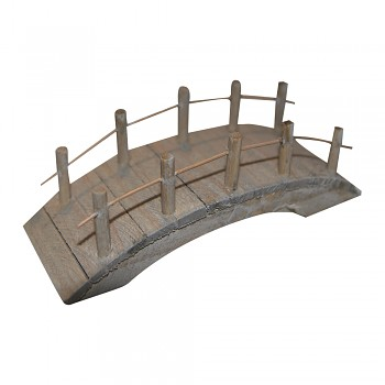 Wooden bridge flat / 10x4x4.5cm