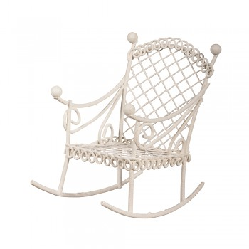 Rocking chair / 5.3x8x7.5cm / white