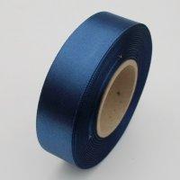 Atlasová stuha 24mm / 20m / tmavo modrá