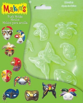 Makin's Clay Pushmold Masks