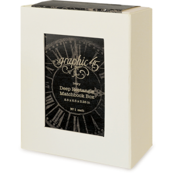 Deep Rectangle Matchbook Box - Ivory