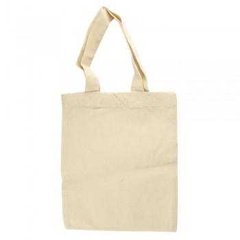 Baumwoll-Tasche 25x21cm beige