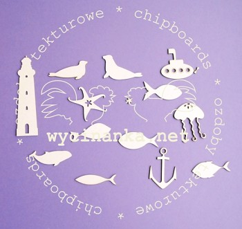 Chipboards - sea set 1 / 14pcs