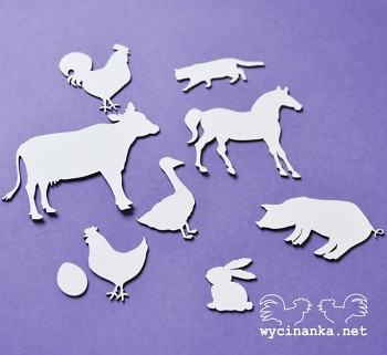 Chipboards - ON THE FARM - animals / 9pcs