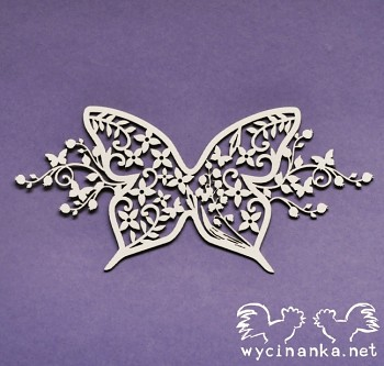 Chipboards - SUMMER WEDDING - decorated butterfly / 1pcs