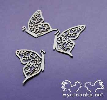 Chipboards - SUMMER WEDDING - butterflies n.1 / 3pcs