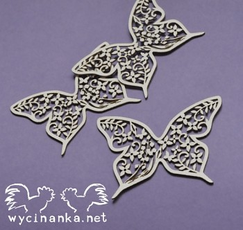 Chipboards - SUMMER WEDDING - butterflies n.2 / 3pcs