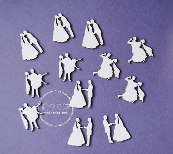 Chipboards - ON THE WEDDING DAY - the newlywed couple mini