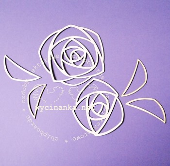 Chipboards - rose / 2pcs