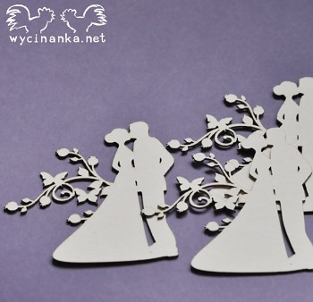 Chipboards - SUMMER WEDDING - young couple 3 / 3pcs