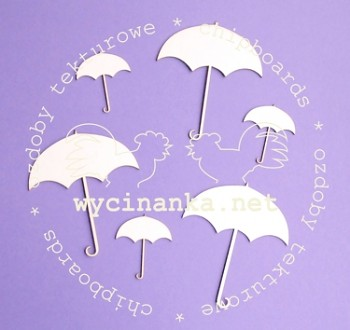 Chipboards - umbrella / 6pcs