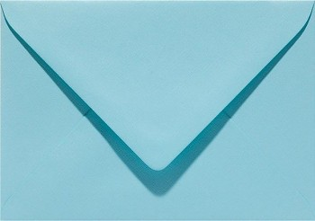 Envelope C6 - 11,5x16cm / Azure blue / 1pc