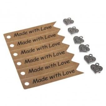Prívesky a visačky Made with Love