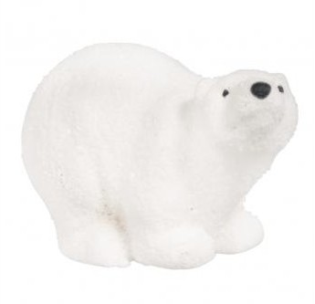 Ceramic polar bear / 7 x 3.5 x 4 cm