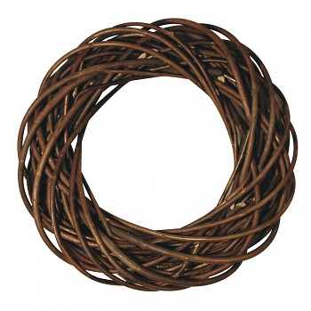 Wreath of willow, unpeeled, ø 25cm x 6cm