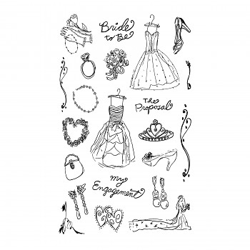Bride to be / 15x20cm / Transparent Stempel