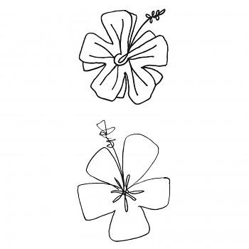 Hibiscus / 6,3x14cm / transparentné razítka