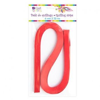 Papier für Quilling / 0,6 cm / 100 Stück / Rot