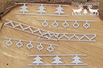 Chipboards - Nordic sweater - borders 01 / 6ks