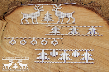 Chipboards - Nordic sweater - borders 03 / 4pcs