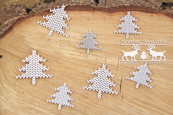 Chipboards - Nordic sweater - trees / 7ks