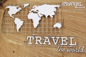 Chipboards - Travel the world - Map Eng / 2pcs