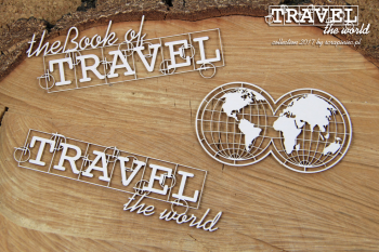 Chipboards - Travel the world - Globe Eng / 3pcs