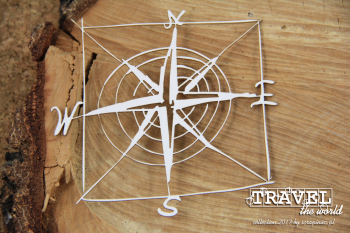 Chipboards - Travel the world - frame - compass rose