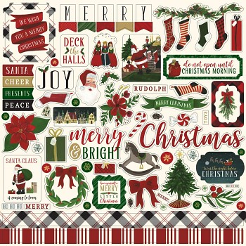 Twas The Night Before Christmas 12x12 Inch Element Stickers Vol. 2 / Samolepky / 12x12