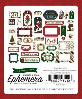 Twas The Night Before Christmas Ephemera Frames & Tags / Papírové výřezy