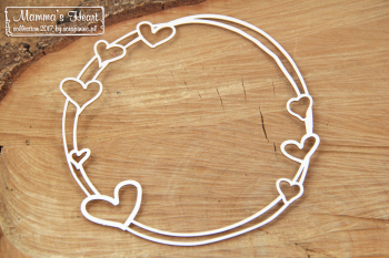 Chipboard - Mamma's heart - Big Round frame