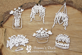 Chipboards - Mamma's Porch - Flowers