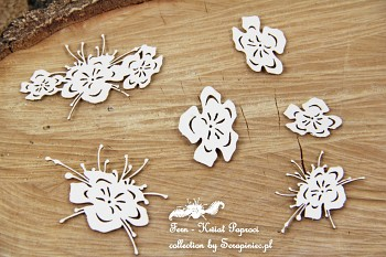 Chipboards - Fern flowers