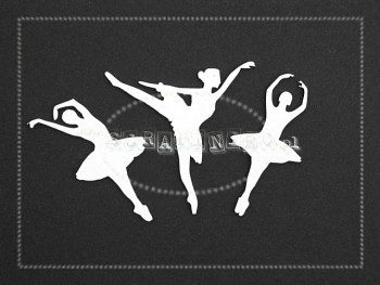 Chipboards - ballerinas 5cm / 3pcs