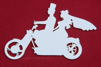 Chipboard - wedding bike / 11x7cm