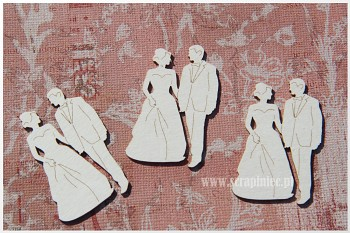 Chipboards - Bridegroom 3x4,5cm / 3pcs