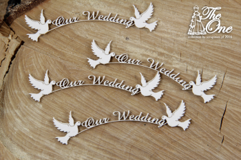 Chipboards - The one - Our wedding / 8,5x2cm / 4pcs