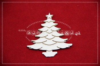 Chipboards - Christmas tree in the snow / 6x6.5cm / 3pcs